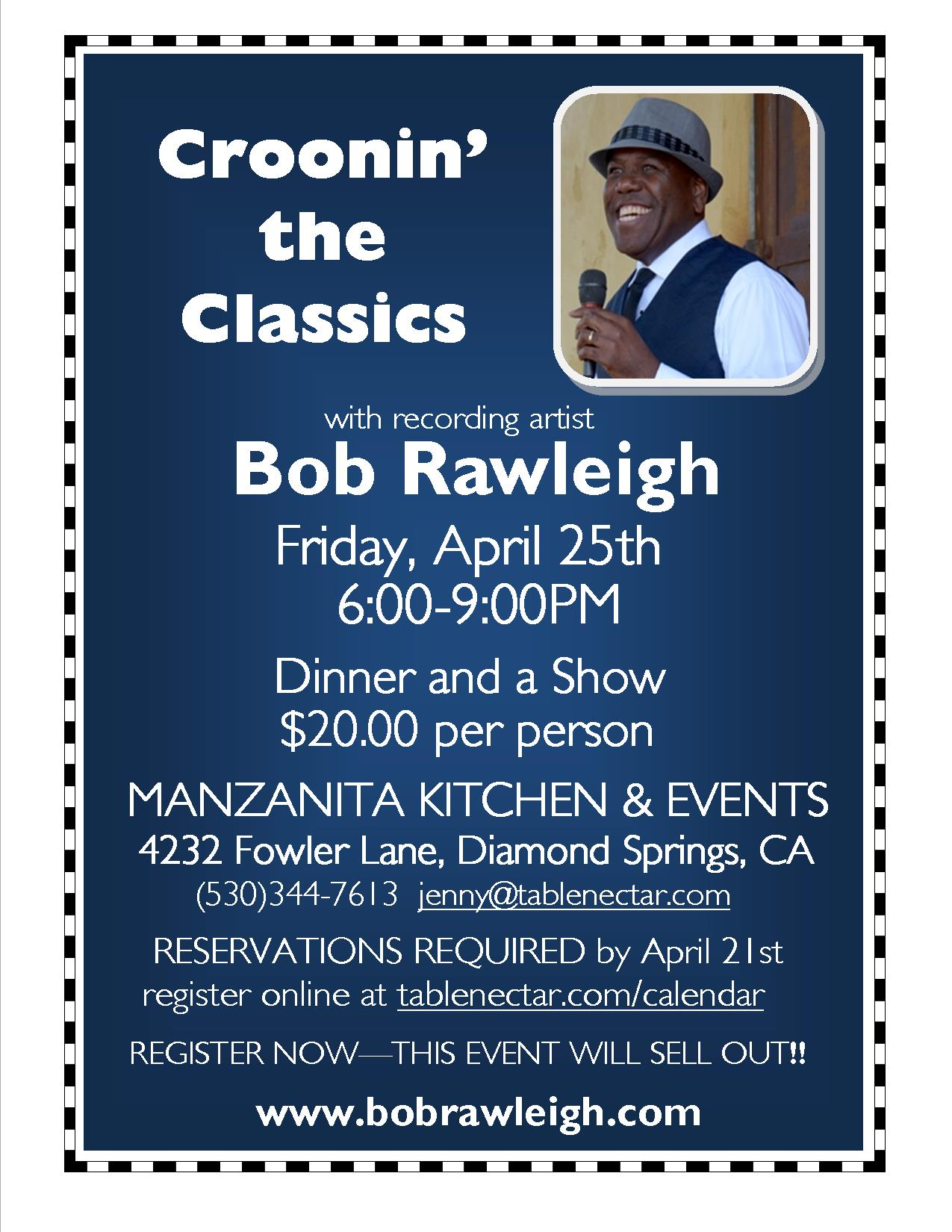 Manzanita Presents: Bob Rawleigh - Dinner & Show!
